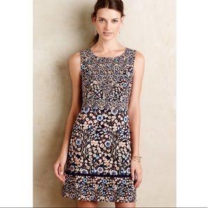 Anthropologie Maeve Brindille Sheath Dress